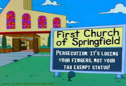 persecution cartoon