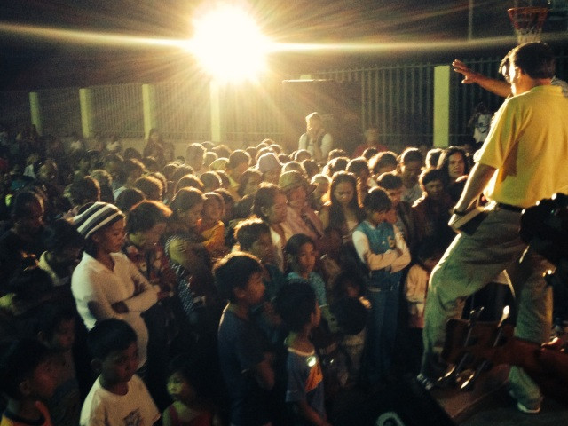 God moved over 100 people to salvation that night!